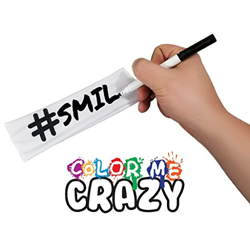 Color Me Crazy Hashtag Headband and Fabric Marker [Set of 3] for Sports, Events, More by Color Me Crazy (Image #7)