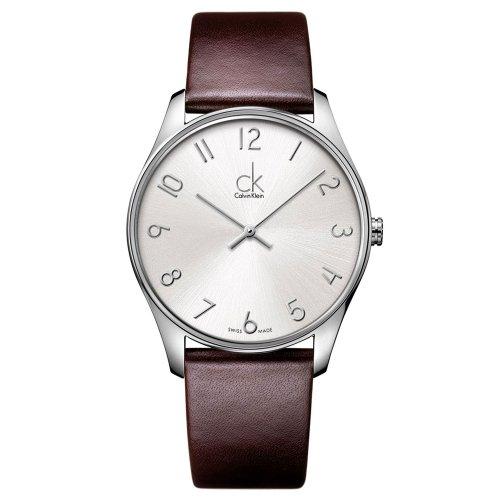 Calvin Klein K4D211G6 38mm Stainless Steel Case Crocodile Mineral Men's Watch