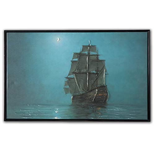 Sumeru Oil Paintings Sailboat Wall Art Pictures Abstract People Artworks for Home Living Bedroom Office Decoration, 1 Piece, 1624 inch ()