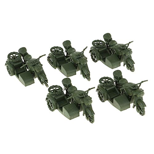Flameer Package of Army Motorcycle Model for WWII German Soldier Diorama DIY Wargame Models Kits, Sand Table Model Building Accs