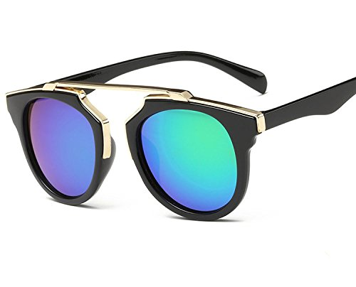 personality men's color film sunglasses ladies bright UV sunglasses,Real shot,Wrapped double ()