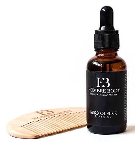 Beard Oil and Comb Kit for Men-Beard Care Gift Set with Organic ...