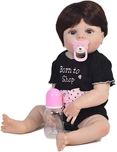 Reborn Baby Poppen Meisje Siliconen Full Body Reborn Pop 23 Inch Leuke Levensechte Handgemaakte Pop Anatomisch Correcte Pop Pasgeboren Baby