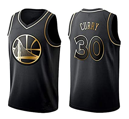 BeKing NBA Stephen Curry Jerseys - Golden State Warriors NO.30 Camiseta de Jugador de Baloncesto Tela Bordada Camiseta de Fan para Hombre