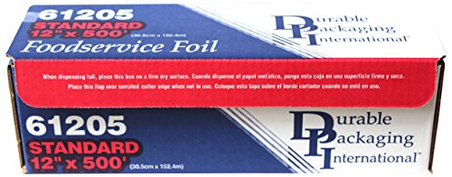 Cooking Tins (Durable Foil Standard Aluminum Foil Roll, 12