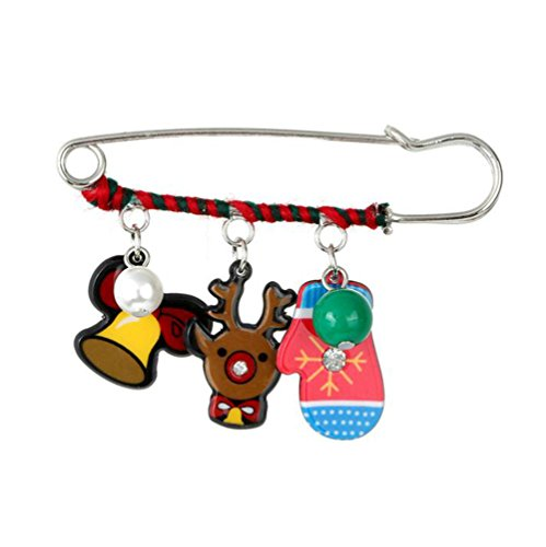 Dog Costume Sled (Outflower Christmas Cute Elk Sled Dog Gloves Cartoon Fun Wrinkle Brooch)