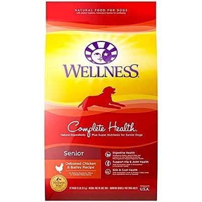 Wellness Complete Health Natural Dry Senior Dog Food, Chicken & Barley