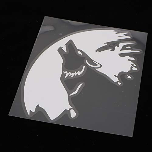 B Blesiya 2X Wolf Howling Wildlife Vinyl Decal Sticker Coche Vehículo Parachoques Ventana Decoración De Pared Casco...