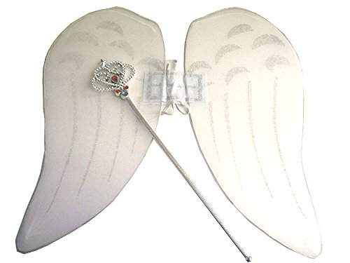 Halloween Angel Wings or Fairy Wings with Wand Costume (Angel Wings Halloween)
