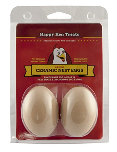 Hen Egg (Happy Hen Treats Ceramic Nest Eggs, Brown)