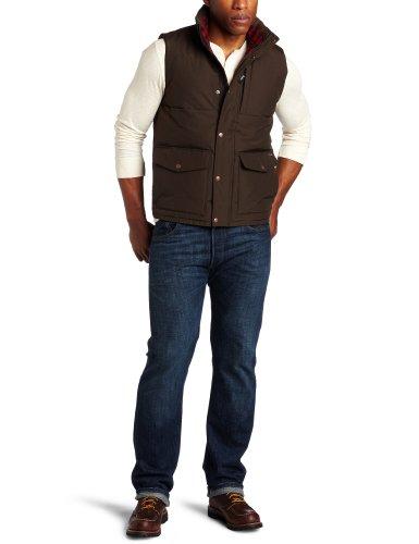 Woolrich Men's Langhorne Vest, Dark Wood, Large