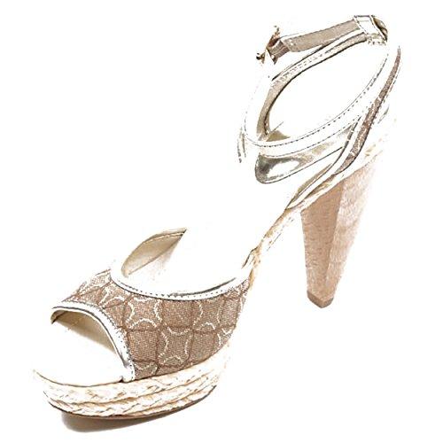 NINE WEST - Damen Knöchelriemen Sandale NWCISCOANN LTGOLD MEDNA Hacke: 10 cm