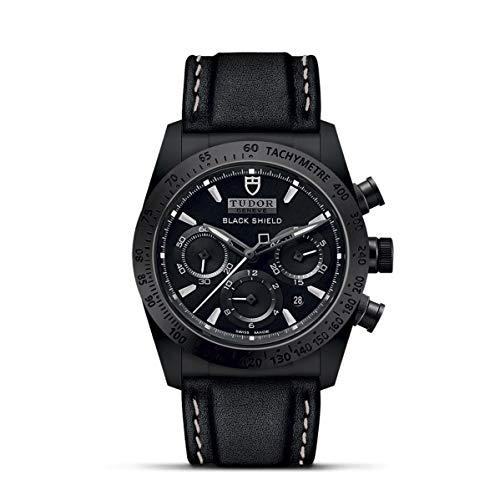 Tudor Fastrider Black Shield Chronograph Automatic Mens Watch 42000CN-0017