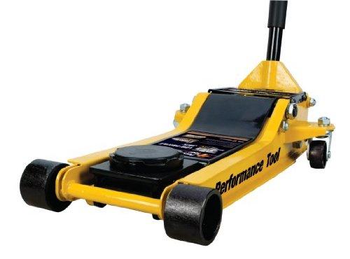 Performance Tool W1645 3 Ton (7,000 lbs.) Capacity Professional Low Profile Floor Jack