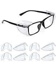Safety Glasses Side Shields, Slip on Clear Side Shields, Fits Small Medium and Large Eyeglasses Frames
