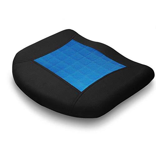 MODOKIT Car Seat Cushion Breathable Gel Memory Foam Coccyx Cushion Non-Slip Memory Foam Pillow for Relieve Sciatica Tailbone Pain for Car Office Chair (Black)