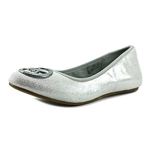 Michael Michael Kors Faye Ria Youth US 3 Silver - Mk Flats Girls For