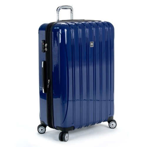 Delsey Helium Aero 29 Inch Expandable Spinner Trolley, Blue, One Size, Bags Central