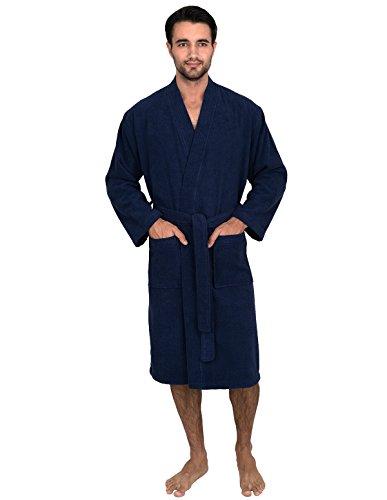 TowelSelections Men's Robe, Turkish Cotton Terry Kimono Bathrobe Large/X-Large Patriot (Terry Kimono)