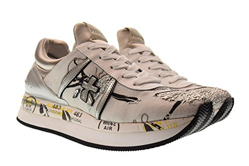 Premiata Sneakers Basse Scarpe Perla Grigio Liz 2998 Donna pfwP5
