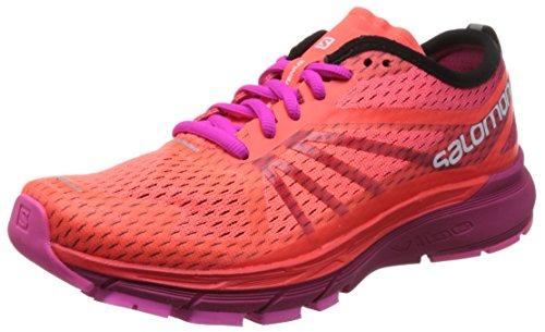 Salomon Women's Sonic Ra Pro W Trail Running Shoes, Berry Orange