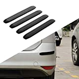 JoyTutus Front Car Bumper Guard Strips Side Rubber Anti-Scratch for Car Pickup Truck Uiversal SUV Rear Car Bumper Protector Back (4 Packs)