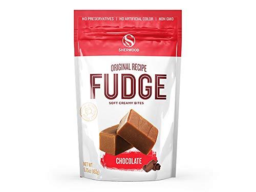 Sherwood Original Recipe Soft Creamy Bites Chocolate Fudge! One 5.75 Ounce Bag! Sweet, Authentic Taste! Enjoy The Taste Of creamy Fudge Bites!