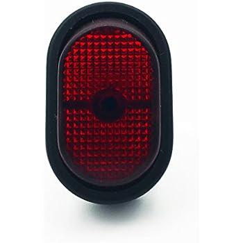 Cambridge Rocker Switch Rectangular Red Glow On Off 20 AMP 12 Volt DC 240 Watts