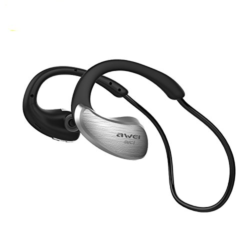 Awei A885BL Waterproof Bluetooth Wireless Sports Headphones (Gray) - 2