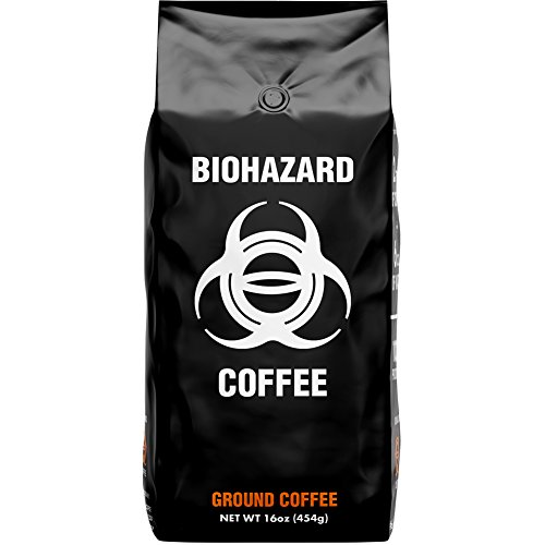 Biohazard Ground Coffee, The World's Strongest Coffee 928 mg Caffeine (16 -