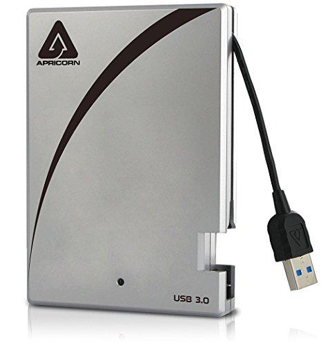 Apricorn Aegis Portable 3.0 USB 2 TB Drive with Integrated USB Cable A25-3USB-2000 - Portable Esata Drive
