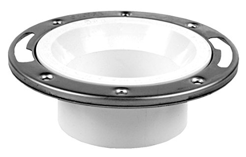 Oatey 43495 Level Fit Closet Flange, 3 Or 4 In, Pvc, 3-Inch x 4-Inch