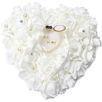 Amazon.com: NszzJixo9 - Cojín de boda con cuentas de perlas ...