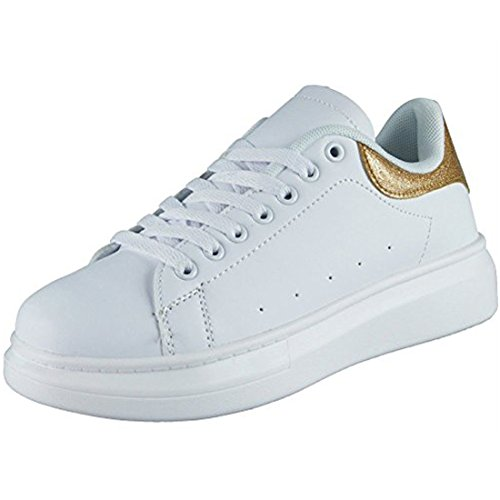 Loud Running Comfy Lace Fitness Light Gold Womens 3 Size Gym Sports Trainers Shoes Look up Ladies 8 FrxqEr