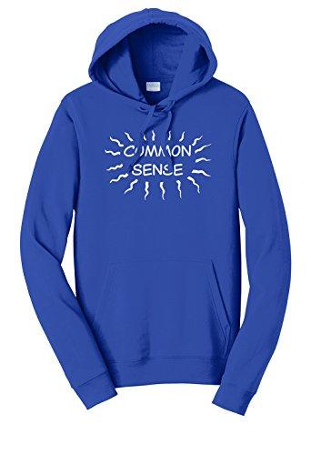 Tenacitee Unisex Common Sense is Tingling Sweatshirt Hoodie, Medium, Royal Blue from Tenacitee