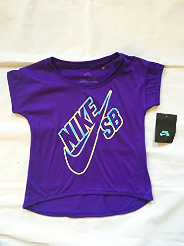 Nike Girl's SB Graphic T Shirt Purple Tee Style:376766-078 Size: 5