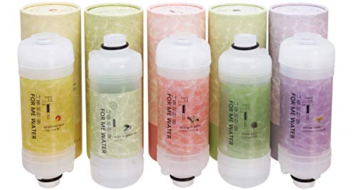 Aroma Vitamin C Shower Filter - Skin Moisturizing, Removal of Residual Chlorines, Sotens Water, Easy Installation, Aromatherapy (5 Set)
