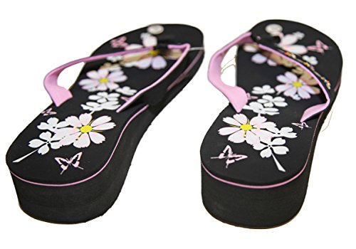 Latschen sandalen flip flops keilabsatz frau pierre-cedric - 39, rosa