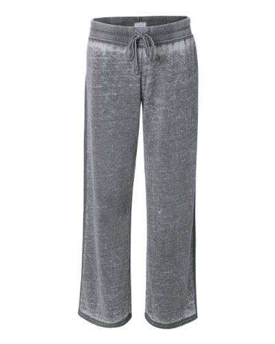 (J. America Ladies' ZEN Fleece Sweatpant - Dark Smoke ss8914 M )
