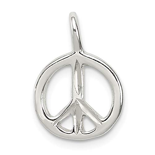 925 Sterling Silver Peace Pendant Charm Necklace Fine Jewelry Gifts For Women For -