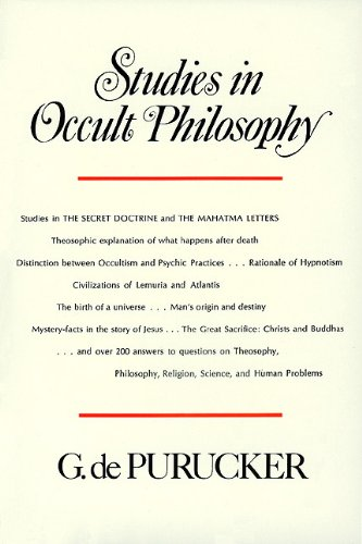 Studies in Occult Philosophy (Studies in The Secret Doctrine and The Mahatma Letters)