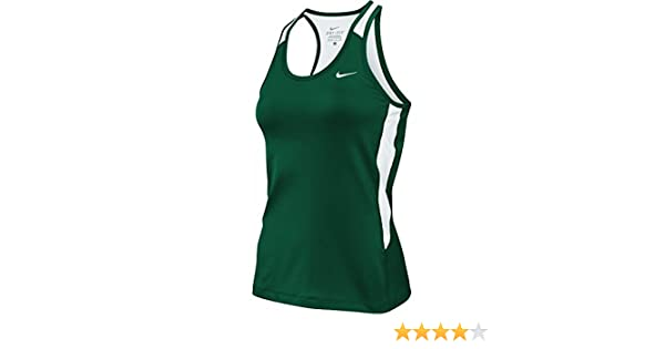 3c88e18591bb4 Amazon.com  Nike Womens Airborne II Dri-Fit Tank Top w Built In Bra Green  White (Medium)  Sports   Outdoors
