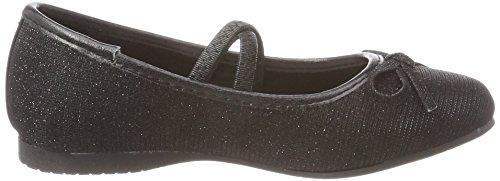 Indigo Schuhe Mädchen 422 265 Geschlossene Ballerinas Schwarz (Black)