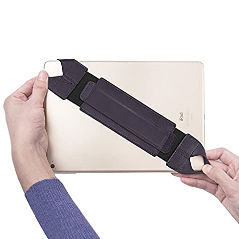 Universal Tablet Hand Strap Holder, Joylink 360 Degrees Swivel Leather Handle Grip with Elastic Belt, Secure & Portable for All 10.1