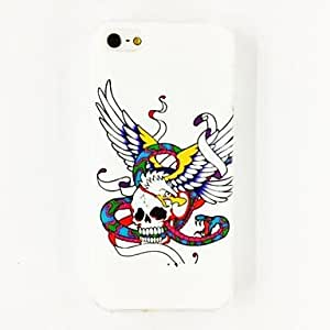 SJT Punk Skull Snake Wing Pattern TPU Soft Case for iPhone 5/5S , Multicolor