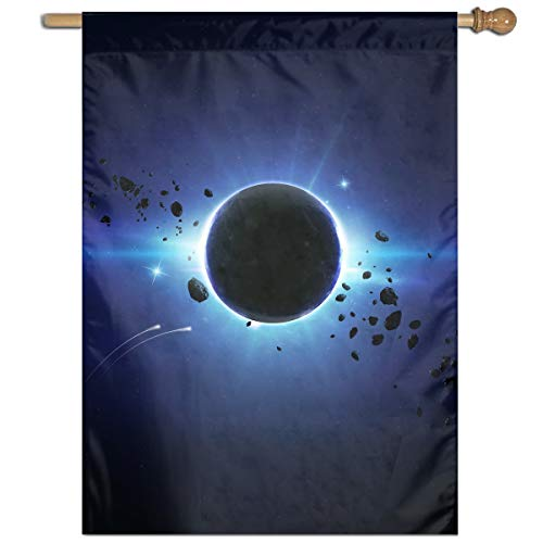 YUANSHAN Single Print Home Garden Flag Eclipse Polyester Indoor/Outdoor Wall Banners Decorative Flag 27