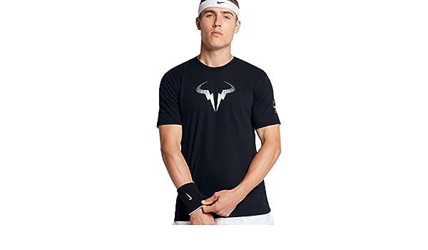 T Shirt Nike Rafa Black Fall 2017: Amazon.es: Ropa y accesorios