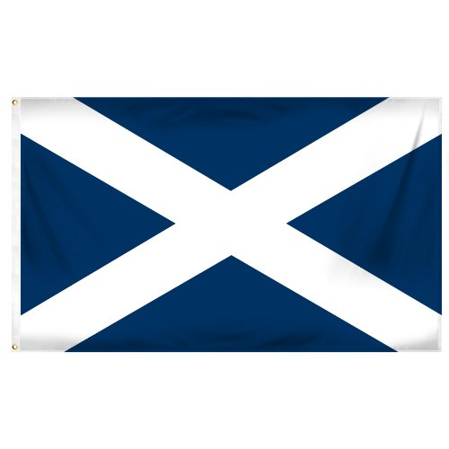 Online Stores Scotland St. Andrews Cross Printed Polyester Flag, 3 by 5-Feet
