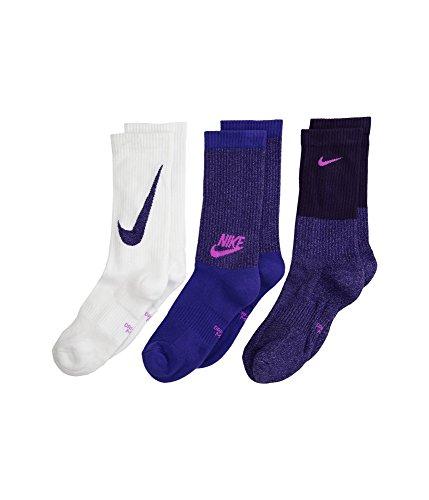 Nike Performance Cushioned Crew Youth Training Socks (3 Pair) Size 5Y-7Y ()