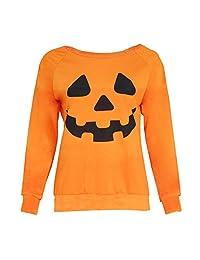 Halloween Pumpkin Sweaters SANNYSIS Long Sleeve Sweatshirt